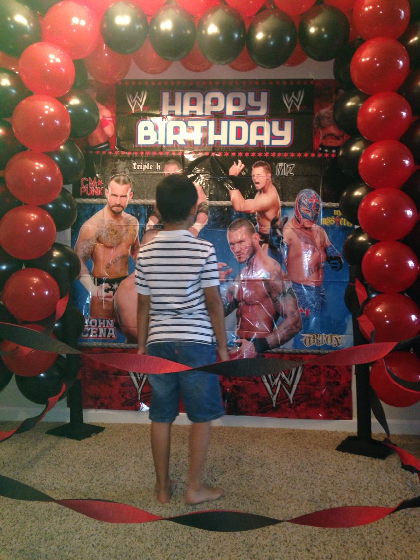 WWE party WWE Party Pinterest Wwe party Wwe birthday and
