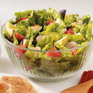 Avocado Turkey Salad Recipe -Grape tomatoes and avocado chunks add pretty color…