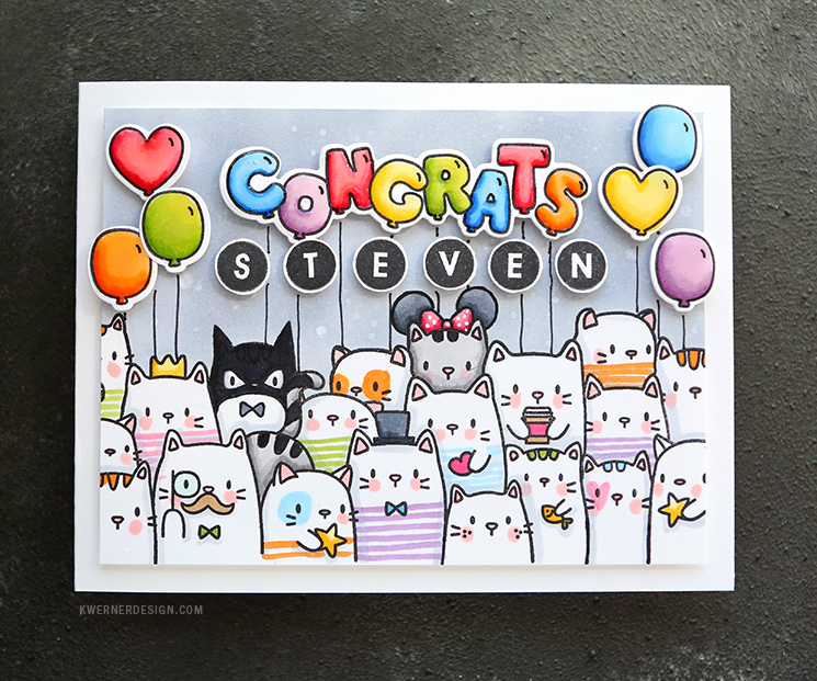Photo of CATS, COPICS, & CONGRATS! Custom graduation card!