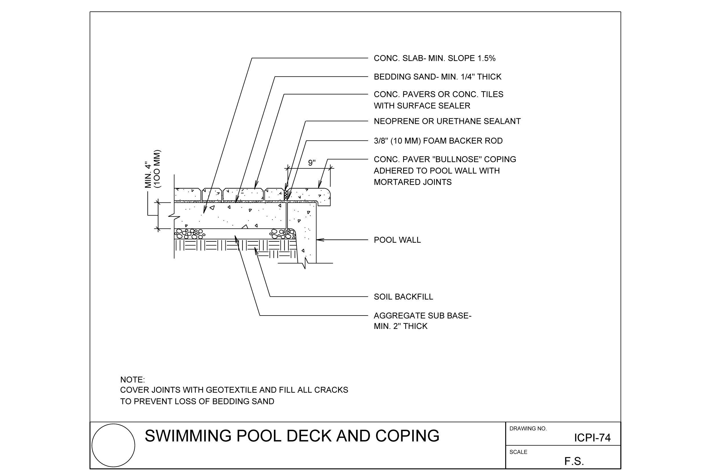 SWIMMING pool detail drawing - Google Search | Bb | Pool ...