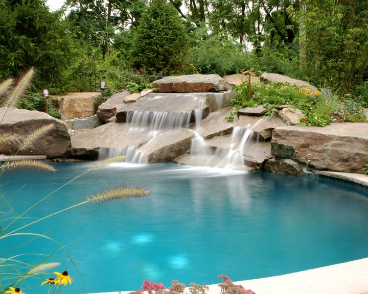 Luxury Swimming Pool Spa Design Ideas Outdoor Indoor Nj Pool Landscaping Pool Waterfall Swimming Pool Lights