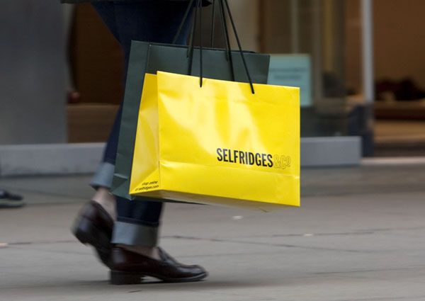 Yellow Bag Selfridges (looove the store!) | Yellow is Mine | Pinterest