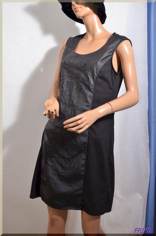 afa0625ccb151 Robe noire XARO taille 46 48 ref 101779   des petites robes et ...