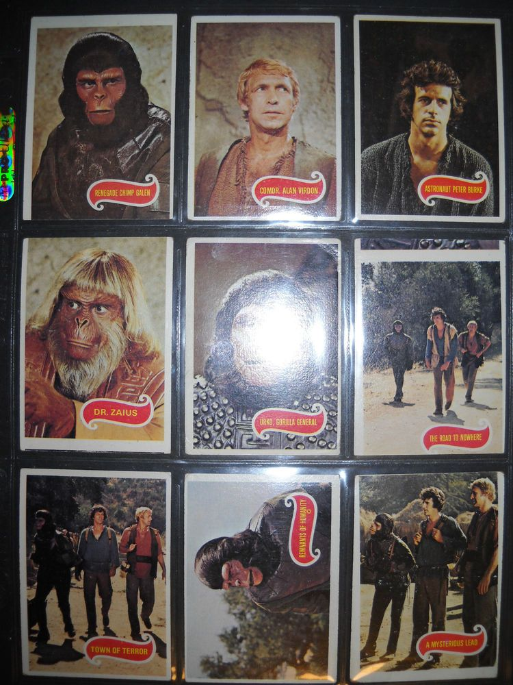 1975 of the apes complete card set topps
