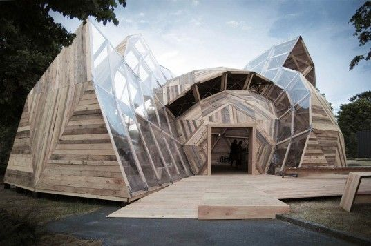 People Meeting Dome is a Deconstructed Geodesic Structure Made from Timber | Inhabitat - Sustainable Design Innovation, Eco Architecture, Green Building