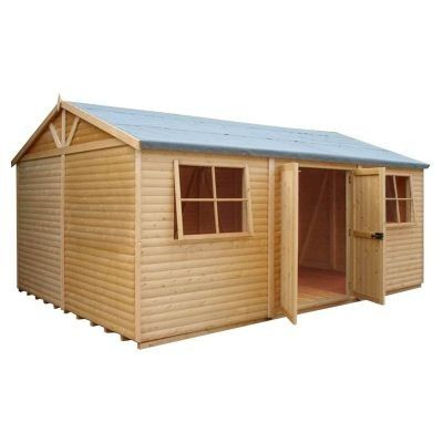 Shire Mammoth Heavy Duty Pine Shiplap Timber Workshop 10x20 Pine Log Optional Tongue And Groove Timber Shed Shiplap Timber