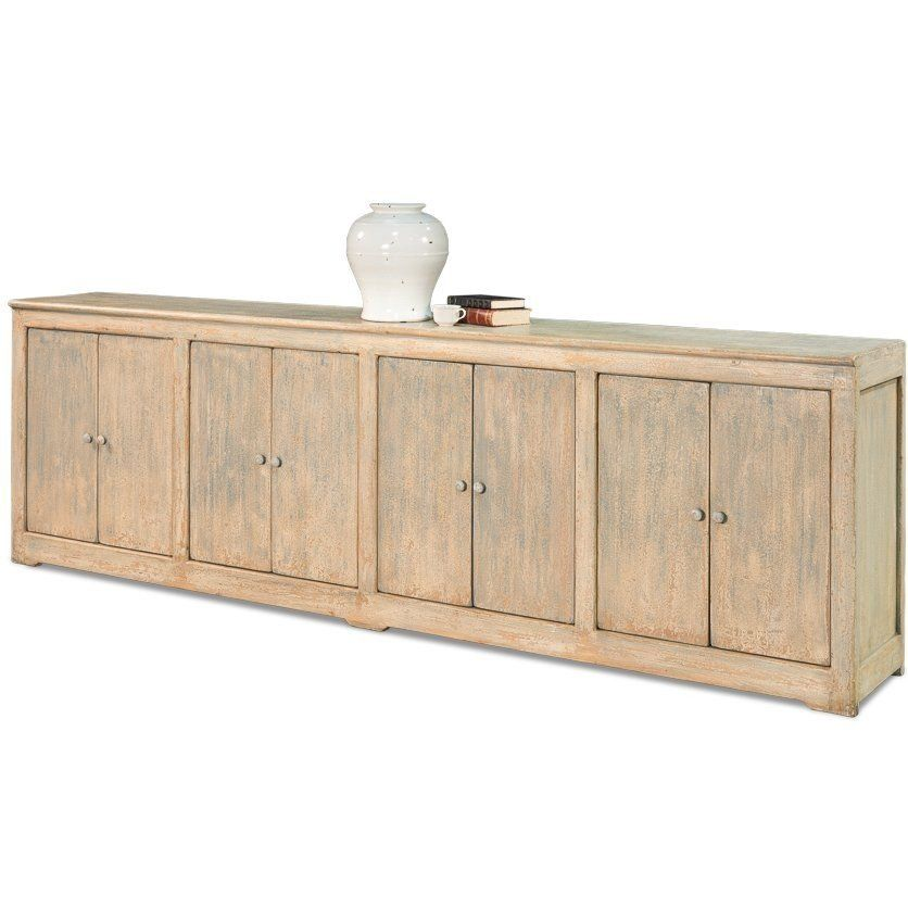 Extra Long Rubbed Blue Sideboard Farmhouse