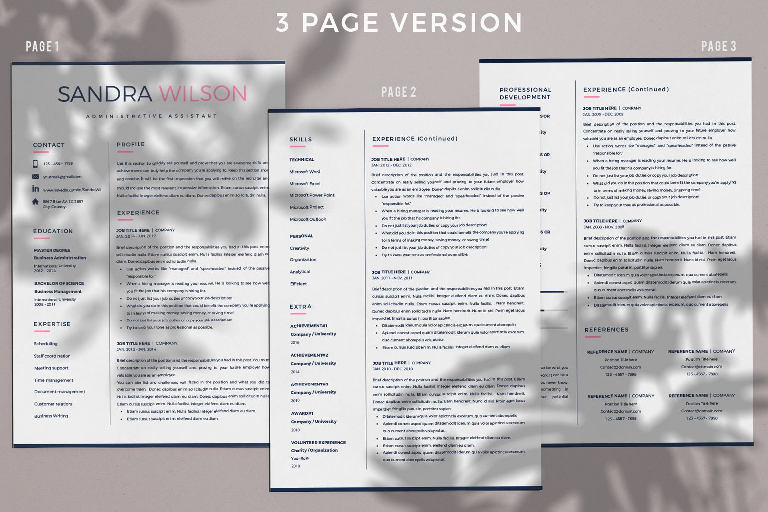 Creative Resume Templates For Ms Word And Mac Pages Professional Resume Templates And M Creative Resume Templates Resume Template Downloadable Resume Template