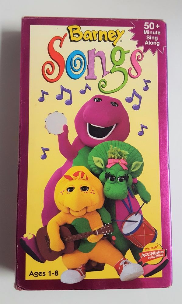 Barney Songs Vhs 1995 Pinterest And Children