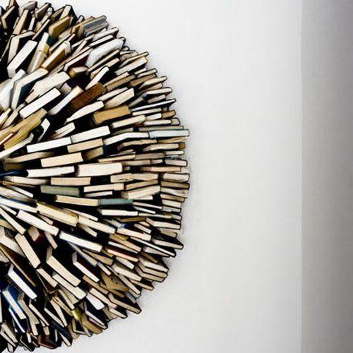 book wall sculpture