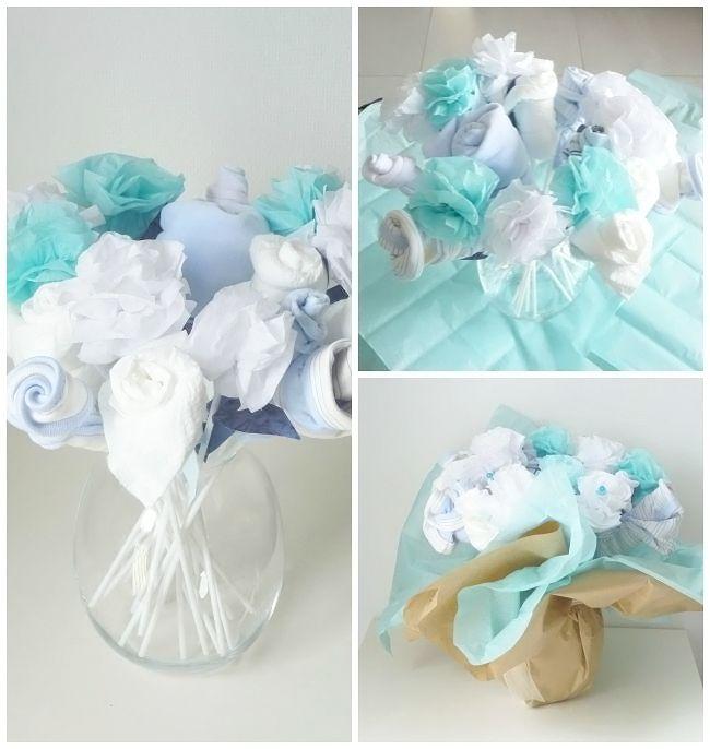 diy bouquet de naissance layette bricolage et bouquets. Black Bedroom Furniture Sets. Home Design Ideas