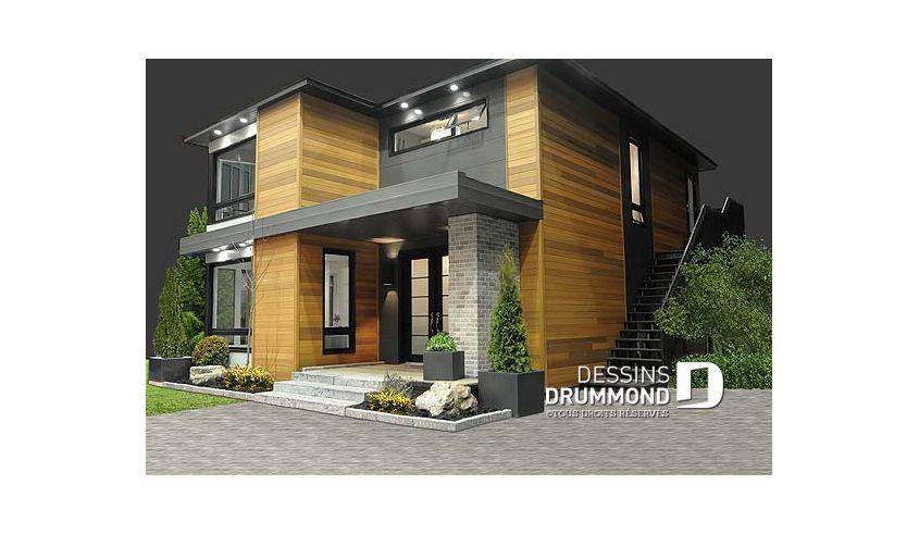Plan de maison unifamiliale Séquoia No 3713 in 2018 Dessins - logiciel pour dessiner maison