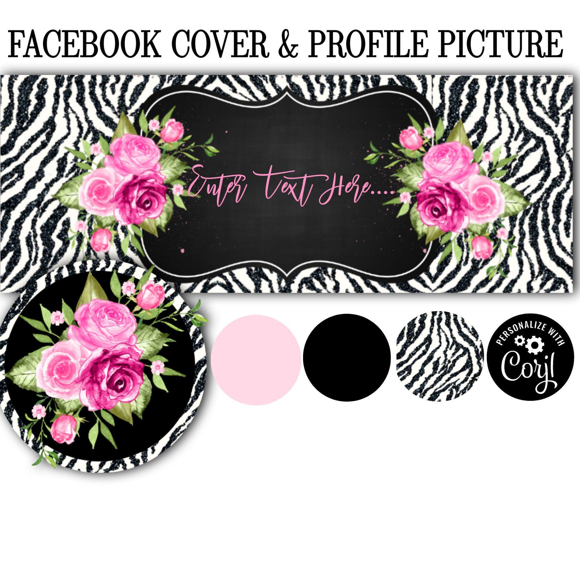 Animal Print Facebook Cover Icon Set Diy Facebook Cover Editable