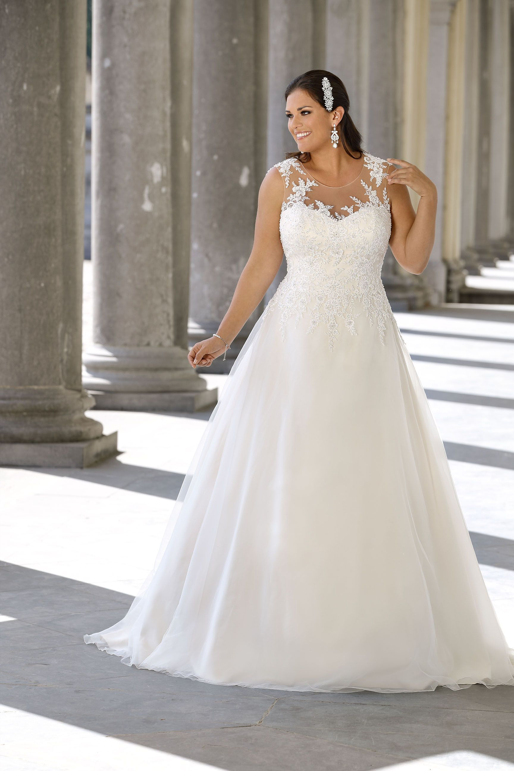 5b648724916 The Ladybird plussize wedding dress collection offers sexy and elegant plus  size wedding dresses in ...