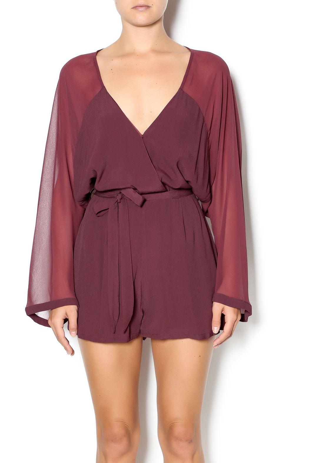 Long Sleeve Chiffon Romper — So cute for date night!