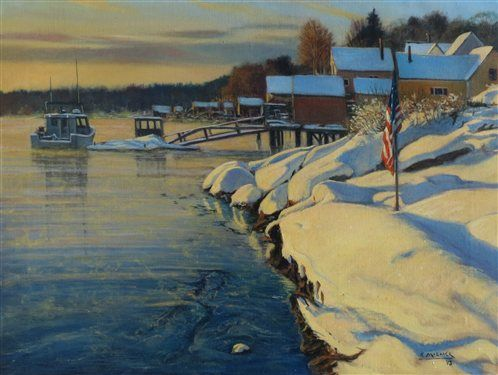 Shop Artists Network Maine Art Painting Competition Painting Snow