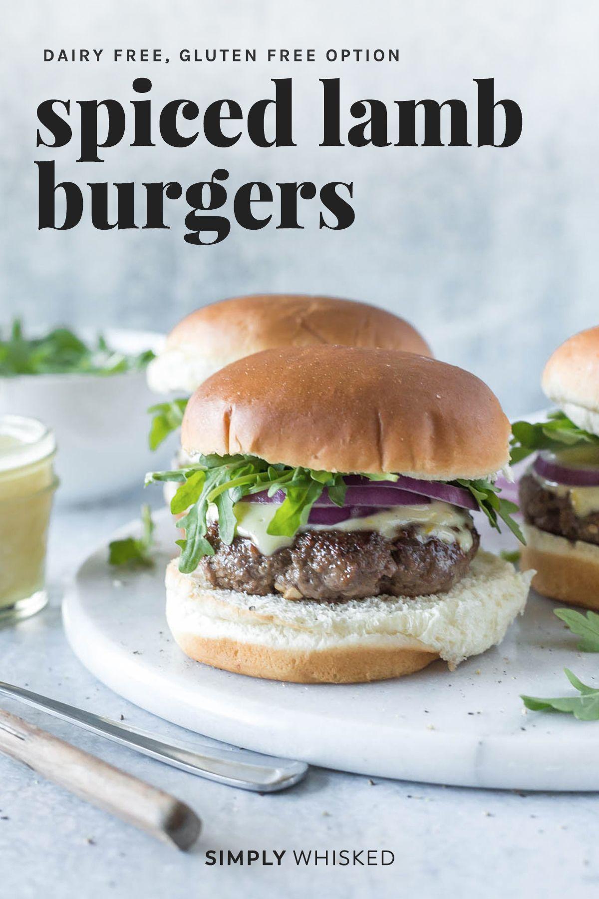 Spiced Lamb Burger Recipe Recipe Lamb Burger Recipes Lamb Burgers Lamb Recipes