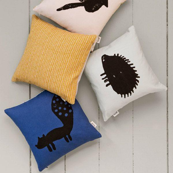 Ferm Living Bird Cushion   Pillows   Decoration   Finnish Design Shop