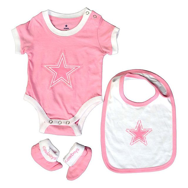 Get 3 for the price of 1 with the NFL Dallas Cowboys Infant 3 PC Set from shop.dallascowboys.com