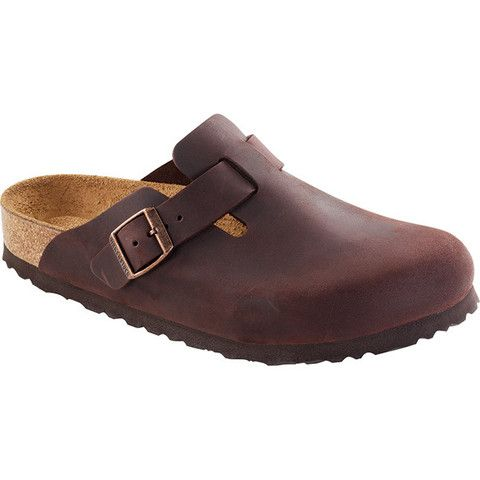 Boston Soft Footbed   Leather clogs