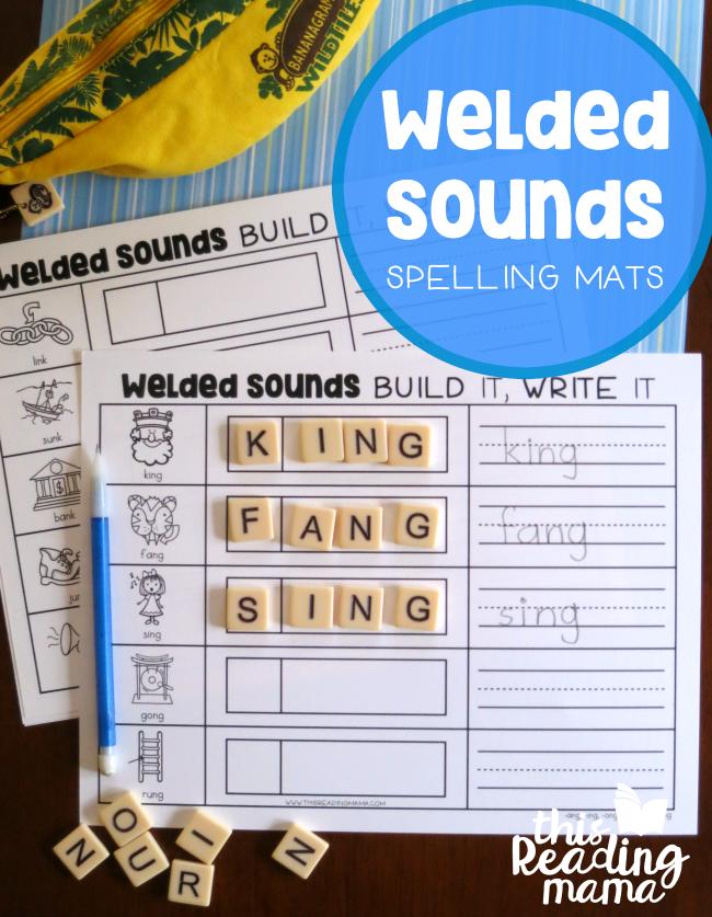 FREE Welded Sounds Spelling Mats Wilson reading program