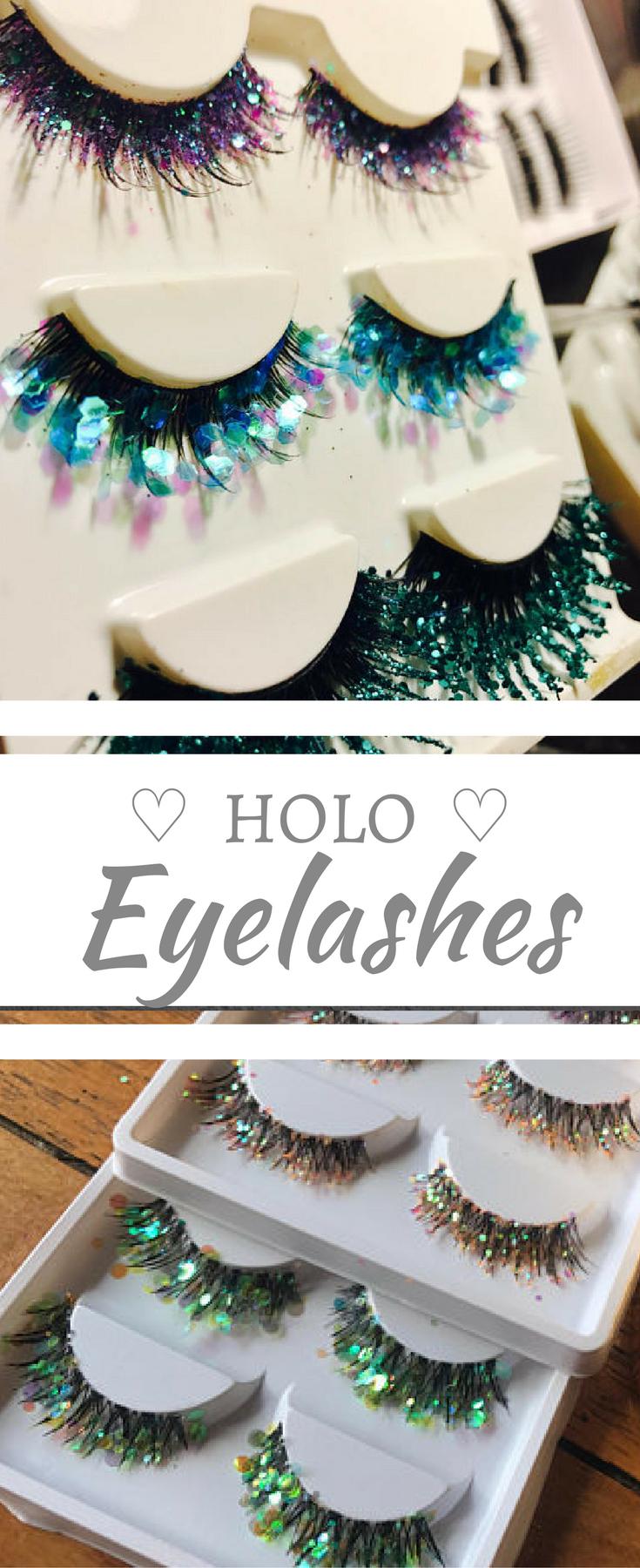 Sparkly False Eyelashes Holo Makeup Looks Holo Mermaid Sparkly