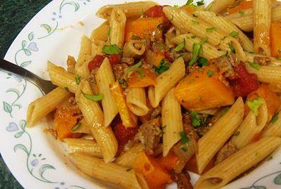 Debbi Does Dinner...  Healthy & Low Calorie: Butternut Squash Penne Pasta & Presto Pasta Nights