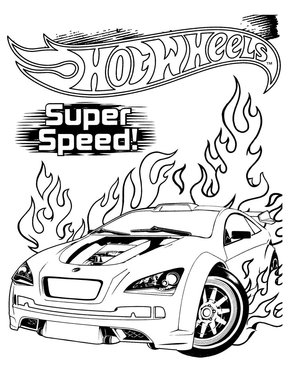 Hot Wheels Super Speed Coloring Pages Diy Crafts