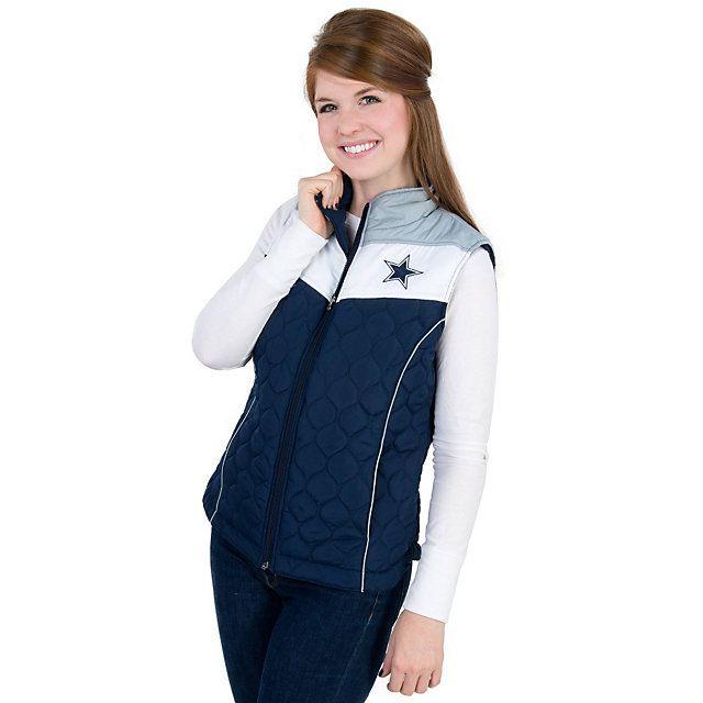 competitive price 38468 fd3e5 Dallas Cowboys Womens Chalktalk Vest | Fashionable Fandom ...