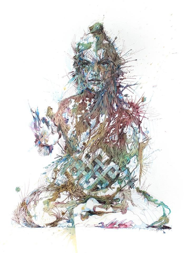 Meditate by Carne Griffiths
