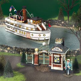 Department 56: Products - East Harbor Ferry, Numbered Limited Edition Of 10,000 - View Lighted Buildings