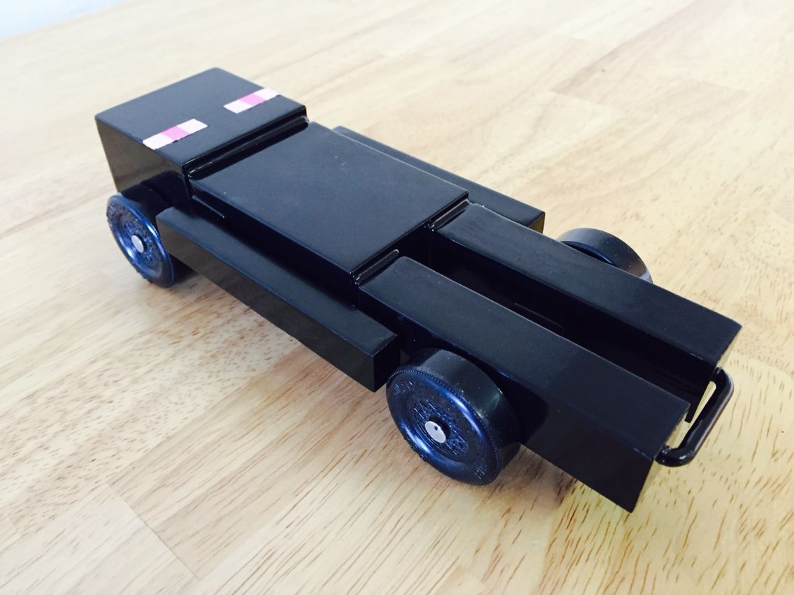 I made an enderman car this year for pinewood derby | Pinewood derby ...
