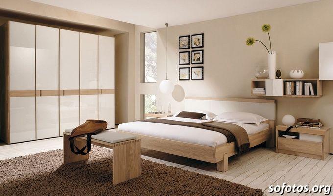 quarto de casal decoração simples