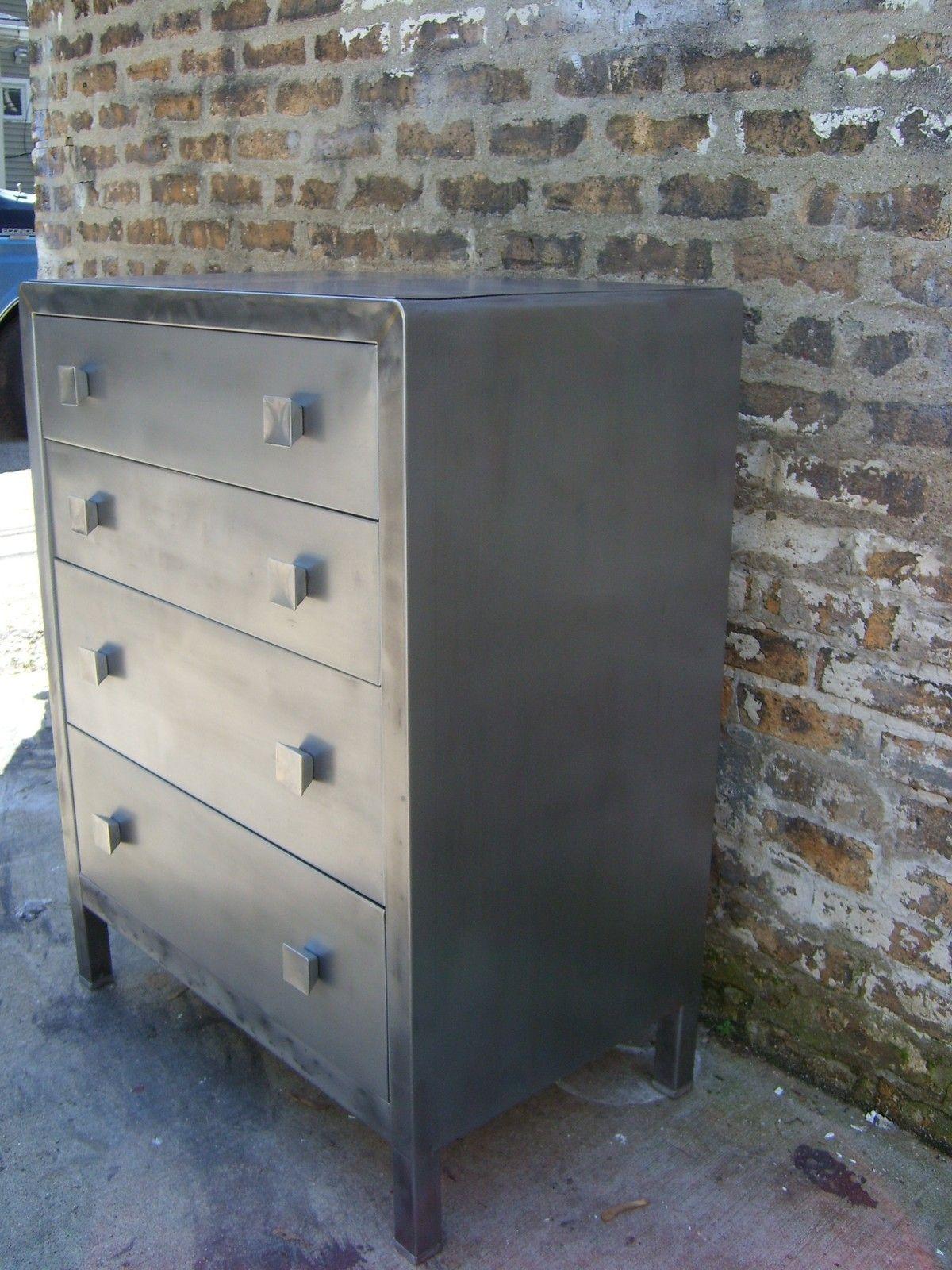 2 Norman Bel Geddes Simmons Industrial Steel Metal Dresser Mid Century Eames. 2 Norman Bel Geddes Simmons Industrial Steel Metal Dresser Mid