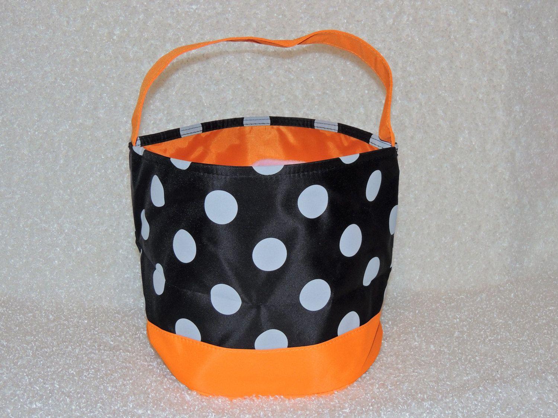 monogrammed halloween bag halloween bucket beach tote treat or trick bag
