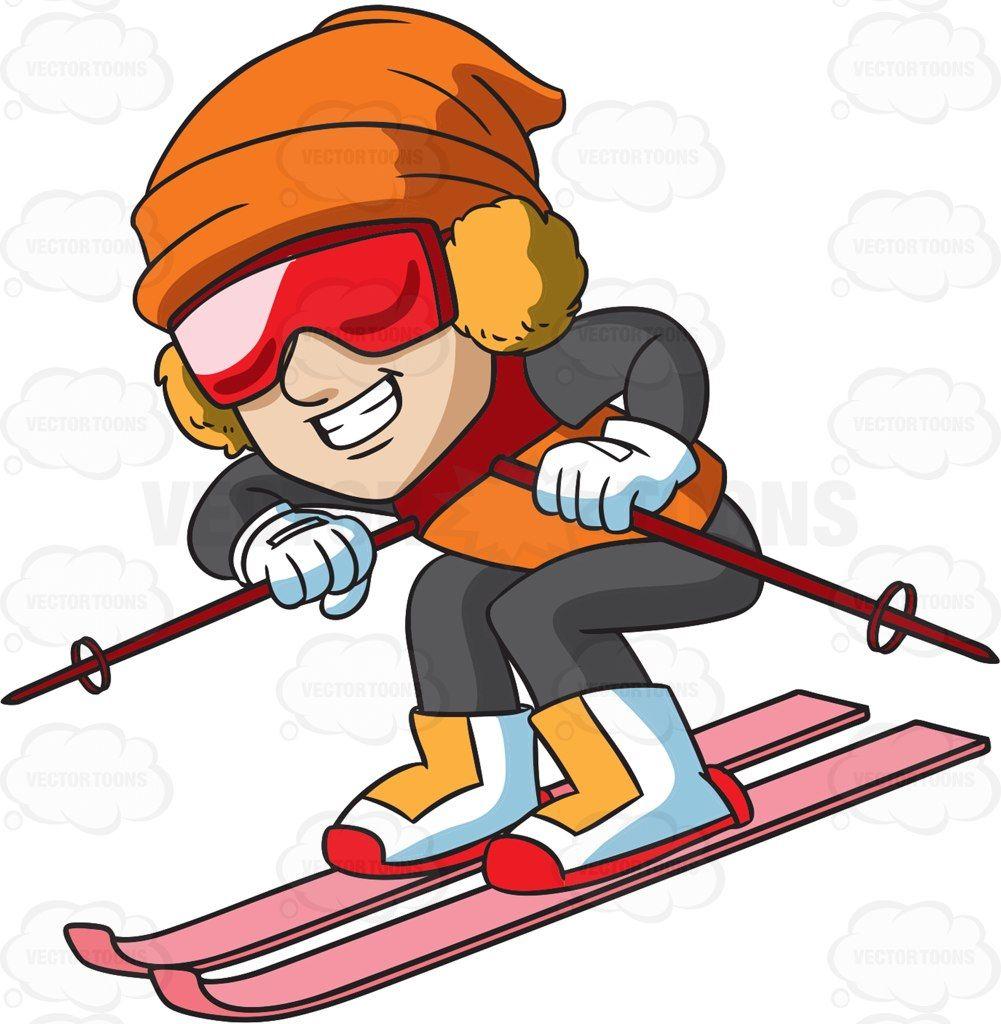 a male skier speeding down the slope rh pinterest com sky clip art images ski clipart gratuit