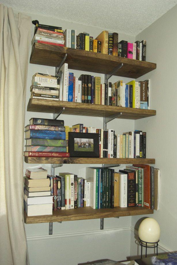 simple diy bookshelf against corner my dream bedroom bookshelves rh pinterest com