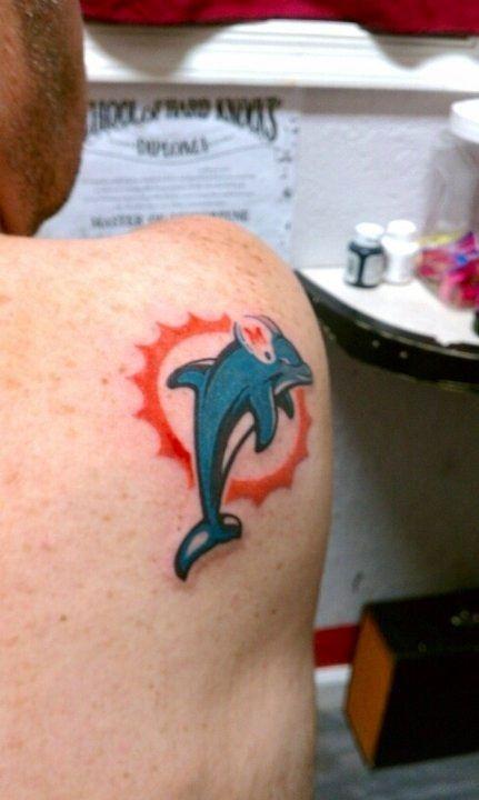 Miami Dolphins Tattoo : miami, dolphins, tattoo, Miami, Dolphins, Tattoo,, Dolphins,
