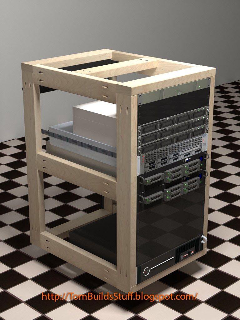 DIY Server Rack Plans | Home Office | Pinterest | Tech, Stuffing ...