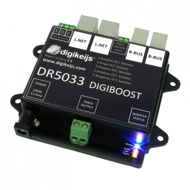 3 Amp DCC Opto-Isolated Booster for Model Trains and Railroads ...