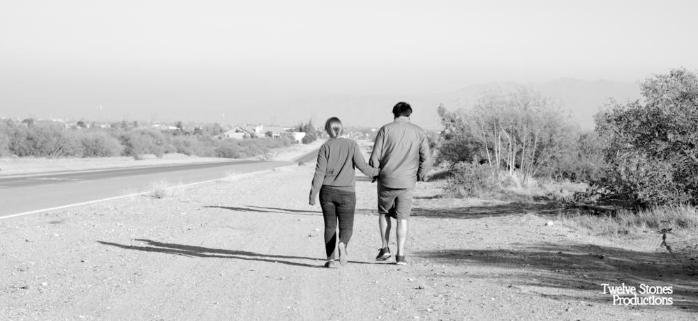 Peaceful walks together. www.twelvestonesproductions.com
