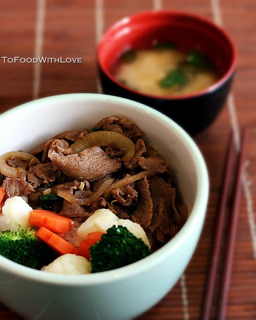 To Food with Love: Gyudon (Beef Bowl)