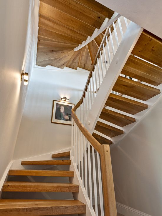Houzz Eclectic Open Riser Staircase Design Pictures Remodel Decor And Ideas Page 2 Home Stairs