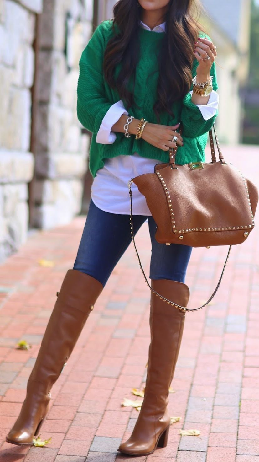 Camel Fall Over-the-knee Boots