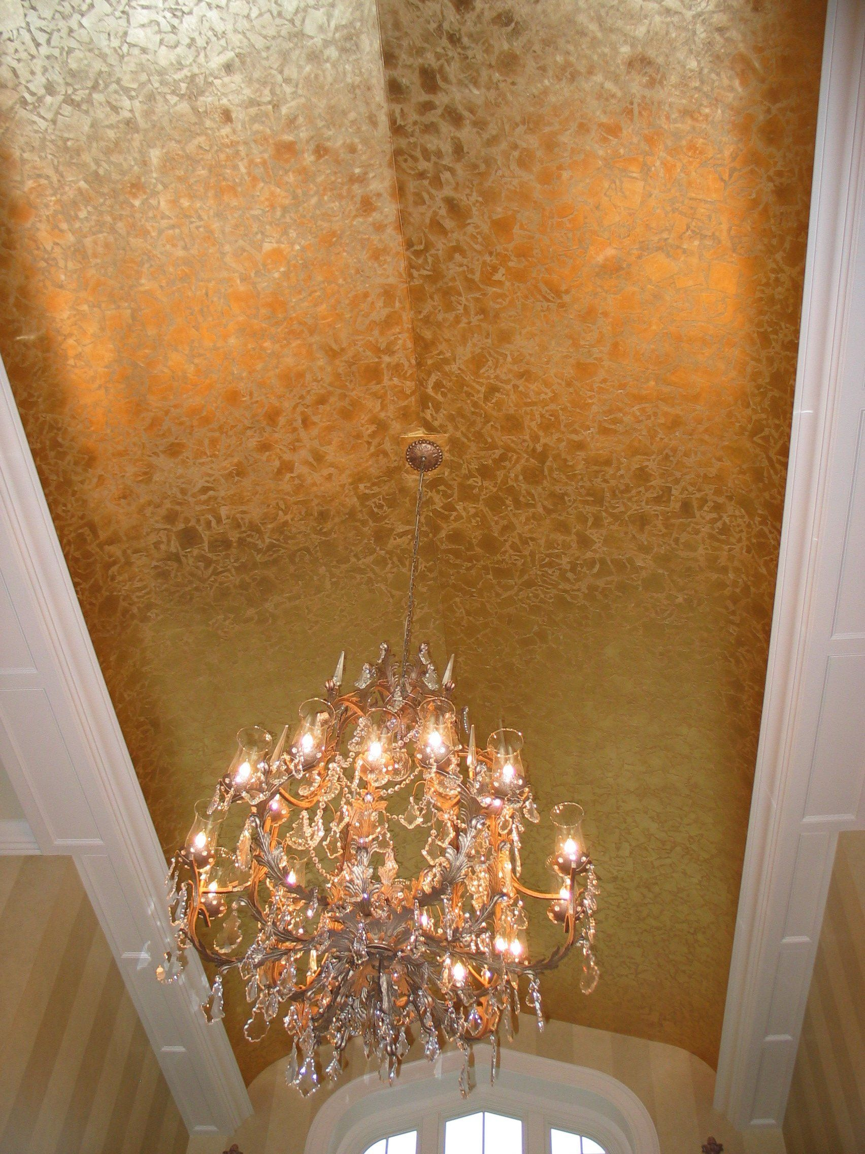 Gold Chandelier With Shades