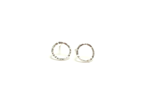 Silver Karma Stud Earrings – thelipstickdiaries