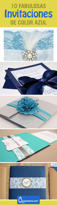 10 Fabulosas Invitaciones De Quince De Color Azul Qué No