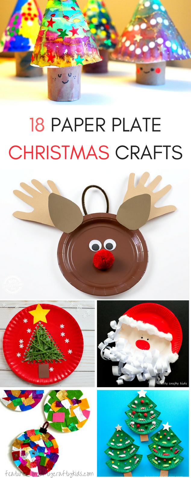 Fabulous Paper Plate Christmas Crafts Art Activities