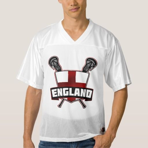 Name & Number #England Lacrosse Jersey | 100% polyester mesh customizable #lacrosse jersey. Easily change the name and number on the back of the jersey. #LAX #Zazzle