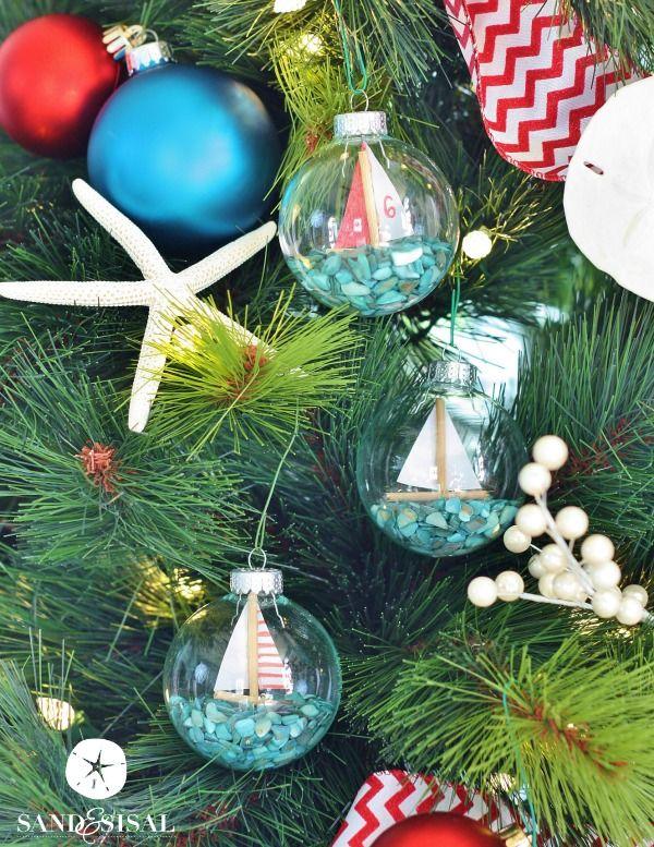DIY Sailboat Ornaments Coastal christmas, Ornament and Holidays